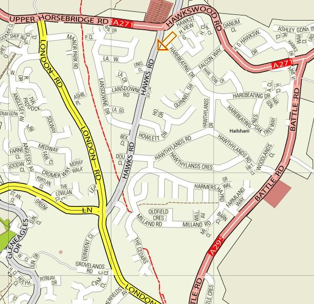 Union Corner Hall Map